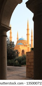 View to the Al Ameen Mosque in Downtown Beirut
