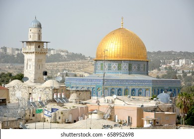 View of Al Aqsa mosque in the old city of Jerusalem
