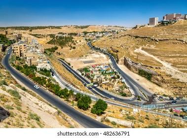 View of Al Karak city from the castle - Jordan