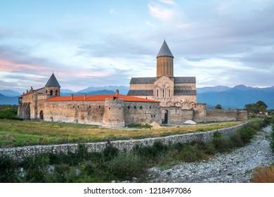 View of Alaverdi Monastery - Georgian Eastern Orthodox monastery in Kakhetia region in Eastern Georgia.