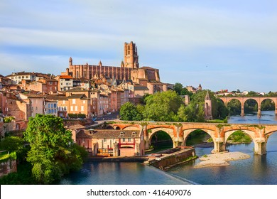 View of Albi and Cathedral Sainte-Cécile d'Albi