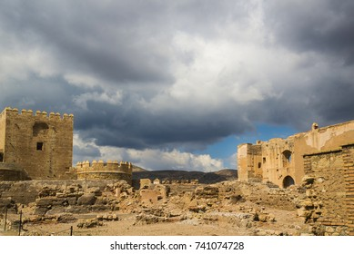 VIew of Alcazaba of Almería, an antique fortified complex in southern Spain