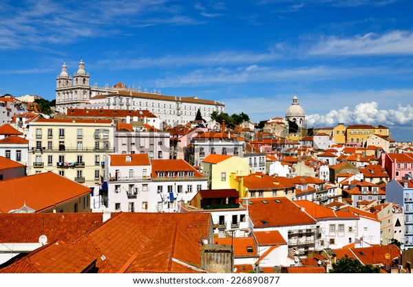 A view of the Alfama in Lisbon, Portugal
