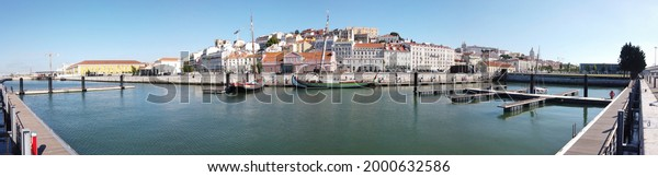 View of Alfama in Lisbon Portugal Panorama