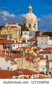 View of Alfama with morning light, Lisbon, Portugal