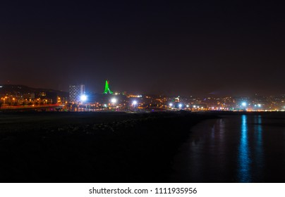 View of Algiers at night from Sablette , Algeria - May 25, 2018