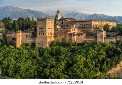 View of Alhambra, Granada, Spain.