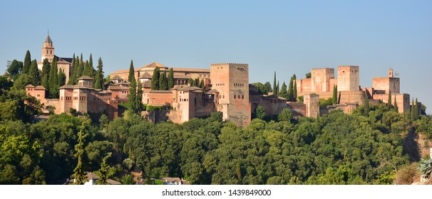 View of the Alhambra from the Sacromonte neighborhood of Granada