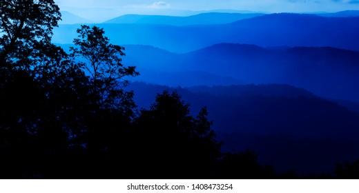 View of the Allegheny Ridge and Valley area from the Highland Scenic Highway, a National Scenic Byway, Pocahontas County, West Virginia, USA