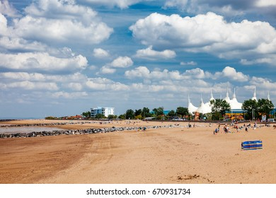 View along the beach at Minehead Somerset England UK  Europe