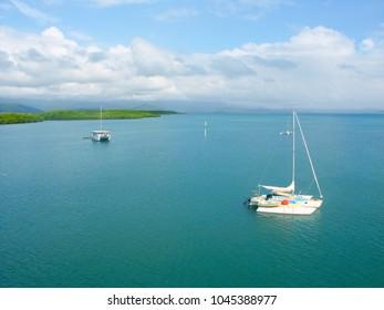 View along the coast of Port Douglas Queensland Australia