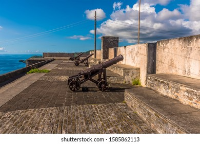 A view along the ramparts of Fort Charlotte, Kingstown. Saint Vincent
