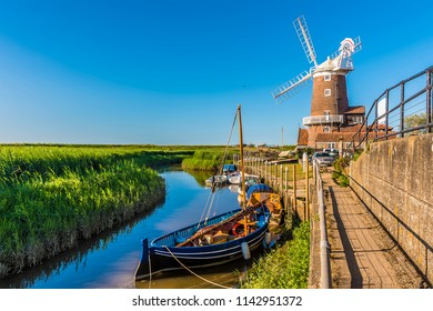 A view along the River Glaven in Cley, Norfolk, UK