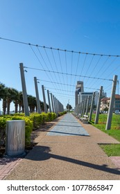 View along the seawall in Corpus Christi, Texas