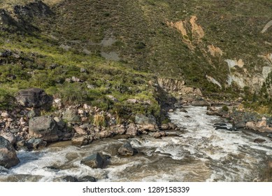 View along the Urubamba river in the sacred valley  Peru