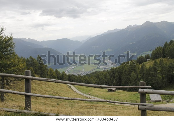 view of alpine mountains in northern Italy