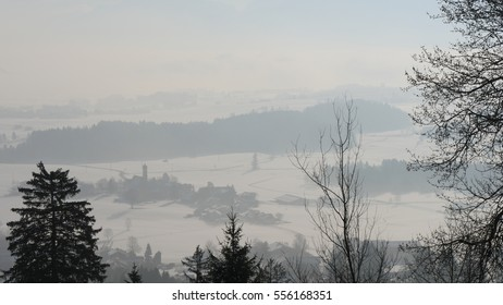 View of the alps in winter