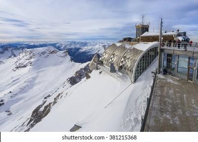 View of Alps from Zugspitze Platform, Garmisch-Partenkirchen, Bavaria, Germany