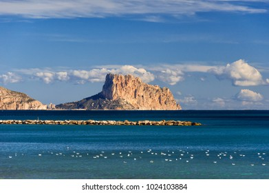 View from Altea to Calpe and the Rock of Ifach