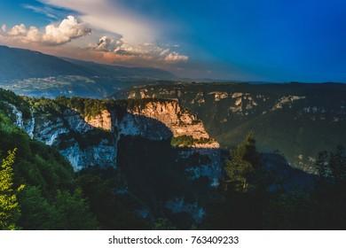 View of Altopiano di Asiago, Alps