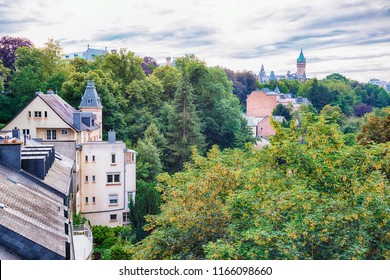 view at Alzette bank to Luxembourg