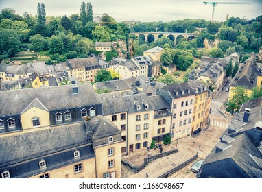 view at Alzette river to old Luxembourg