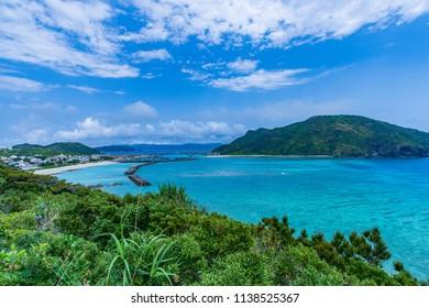View from Amagusuku Observatory, aka Island, Okinawa Prefecture