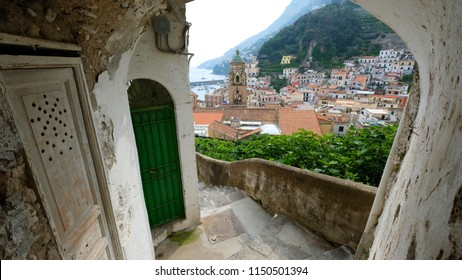 View of Amalfi from an alley
