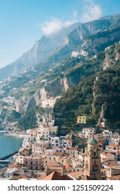 View of Amalfi, in Campania, Italy