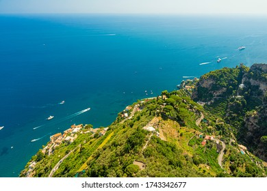 View of the Amalfi Coast from the town of Ravello, Italy