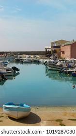 View of amazing port Centuri, Cap Corse coastline, Corsica, France