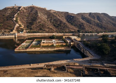View of Amer Fort on in Jaipur, India