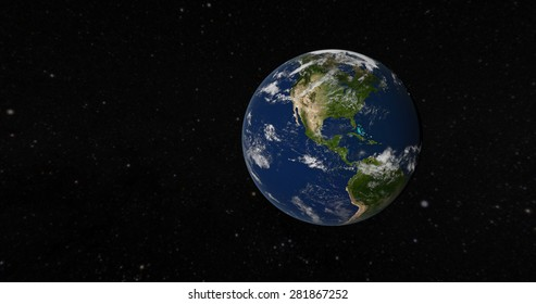 View of America from space - 3D Render of The Globe (Elements of this image furnished by NASA)