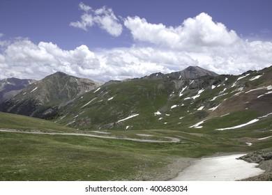 A view among the Sangre De Cristo Mountains.