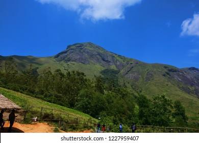 """""""View of Anamudi Peak from Eravikulam National Park, Munnar, Kerala, India"""""""