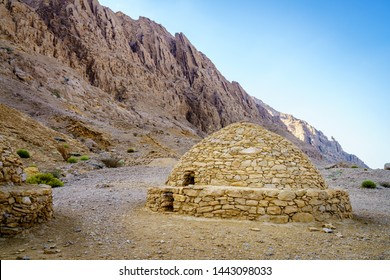 View of ancient beehive tombs near Al Ain, UAE