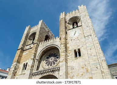 """View of the ancient cathedral """"Sé Patriarcal"""" of Lisbon in Portugal"""