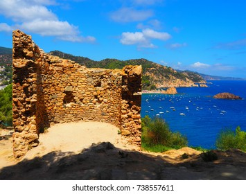 View of ancient construction in Tossa de Mar, Costa Brava - Girona, Spain