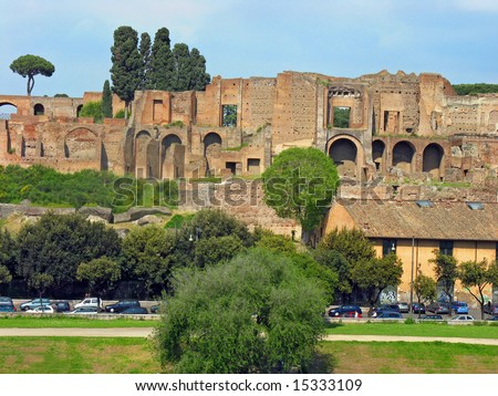 View Ancient Forum Rome Traffic Jam Stock Photo (Edit Now
