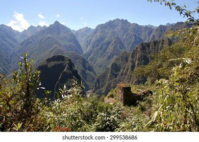 View from an ancient Incan city of Machu Picchu, Peru