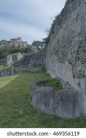 view of the ancient theater, special foutai  and walls
