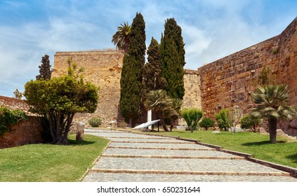a view of the ancient walls of Tarragona, Spain, much of which were built by the ancient romans