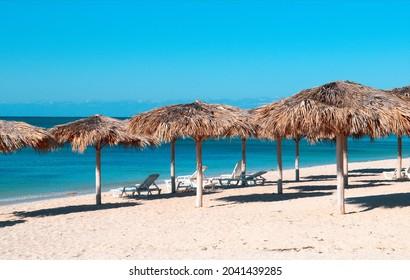 the view of Ancon beach, Cuba