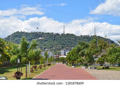 View of Ancon hill in Panama City, Panama