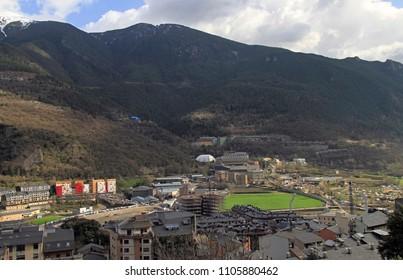 view of Andorra la Vella, the capital of Andorra