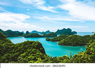 View of Ang Thong National Marine Park, Thailand,Seascape background,
