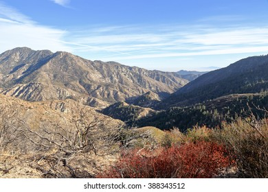 A view of Angeles national forest located in San Gabriel mountains along the highway 2.