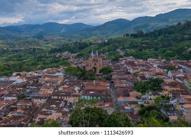 View of Jericoó, Antioquia, Colombia from Morro El Salvador
