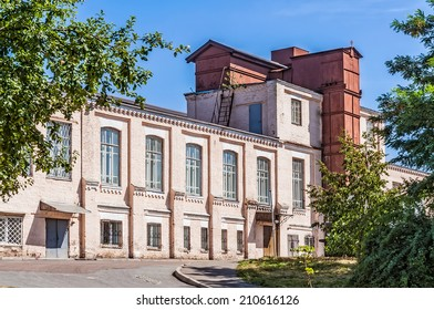 A view of an antique bricks building of the Polytechnic Institute of Kiev in Ukraine