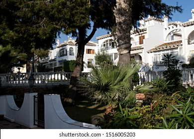 View of the apartments in Residence Camposol. Torrevieja city. 23th October 2018. Spain. Europe.